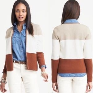 Banana Republic Color Block Cardigan